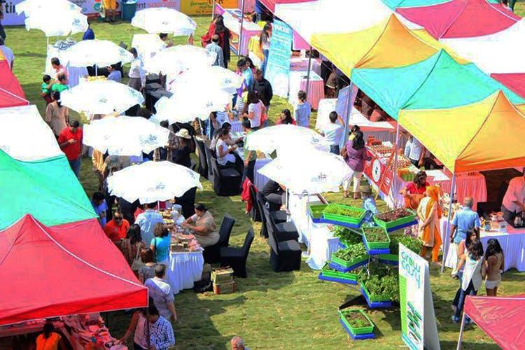 Crowd,Community,Fête,Event,Umbrella,Festival,Fair,Fashion accessory,Tent
