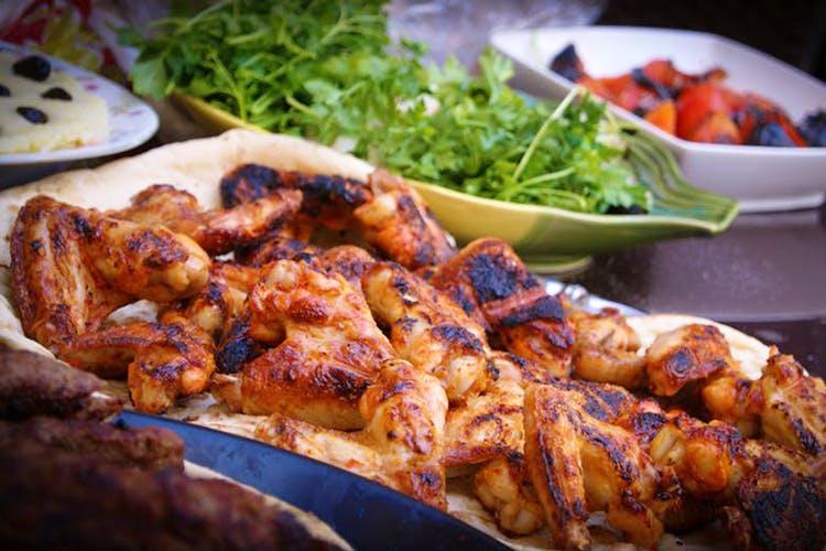 Dish,Food,Cuisine,Shashlik,Meat,Ingredient,Kai yang,Shish taouk,Kebab,Chicken tikka