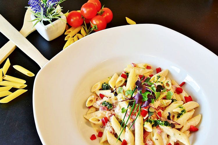 Food,Cuisine,Dish,Penne,Ingredient,Pasta,Italian food,Pasta salad,Produce,Staple food
