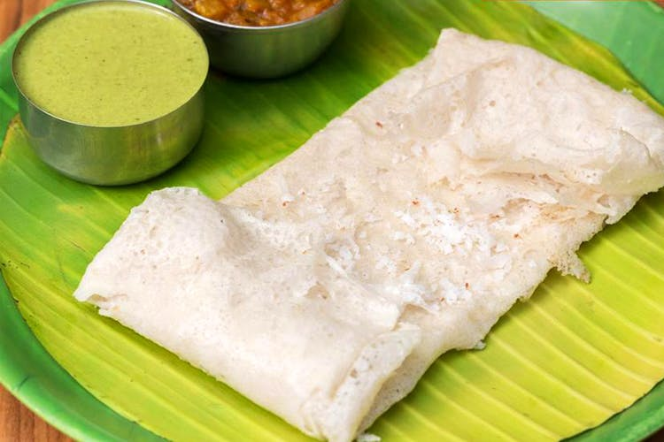 Dish,Food,Cuisine,Ingredient,Rice,Neer dosa,Banana leaf,Banana leaf rice,Indian cuisine,Produce