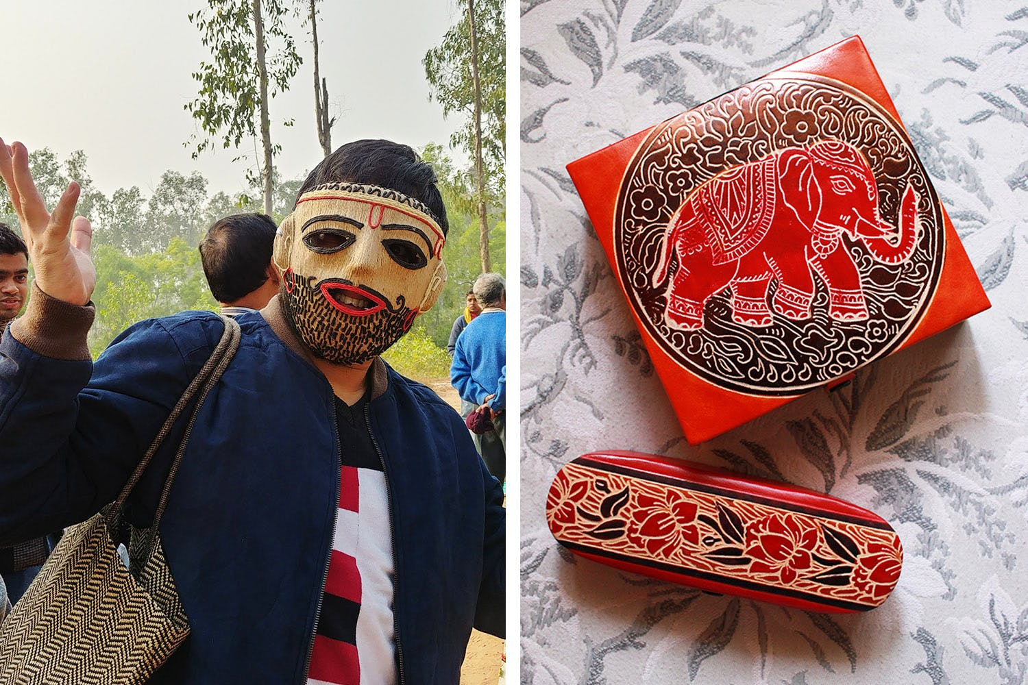 Red,Illustration,Tradition,Headgear,Glasses,Textile,Mask,Art,Costume,Style