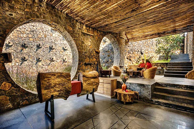 Property,Interior design,Room,Building,Wall,Stone wall,Ceiling,Furniture,House,Architecture