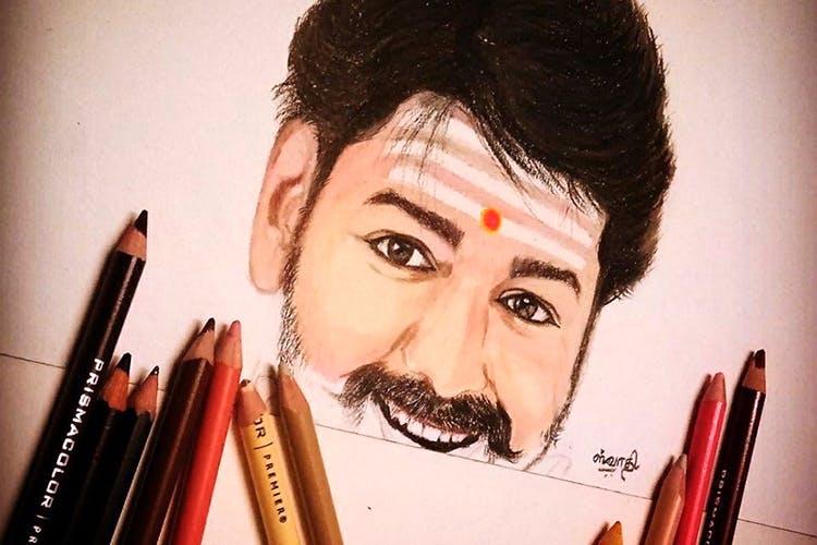 Chennai artist swathys pencil for portraits lbb chennai