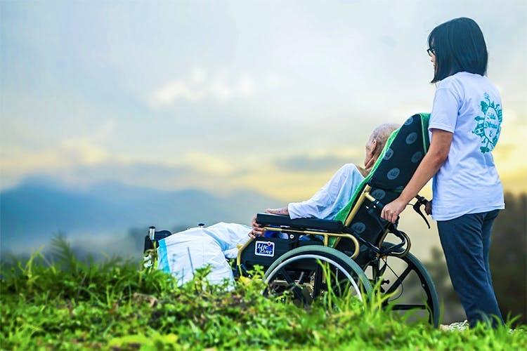Green,Grass,Product,Grassland,Vehicle,Travel,Photography,Wheelchair,Cloud,Recreation