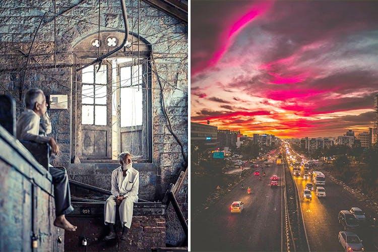 Photograph,Sky,Reflection,Architecture,Photography,Art,Cloud,Illustration,Visual arts,Photomontage