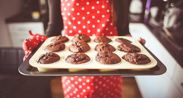 Food,Baking,Dish,Cuisine,Dessert,Chocolate,Chocolate brownie,Ingredient,Muffin,Baked goods