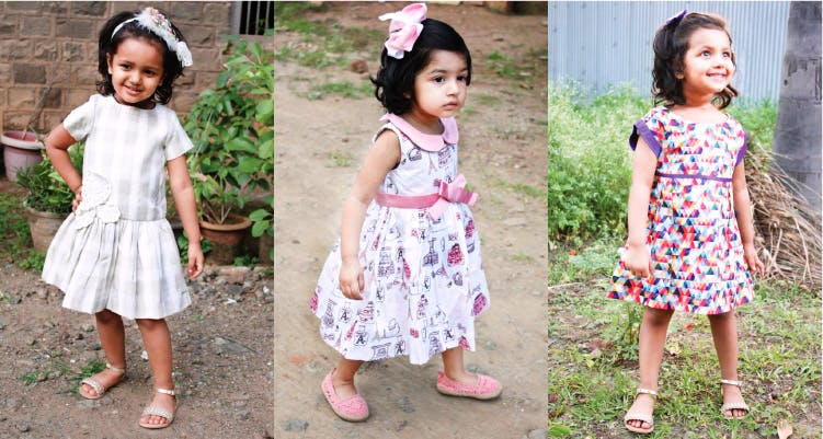 Child,Clothing,Dress,Toddler,Pink,Pattern,Child model,Pattern,Design,Sibling