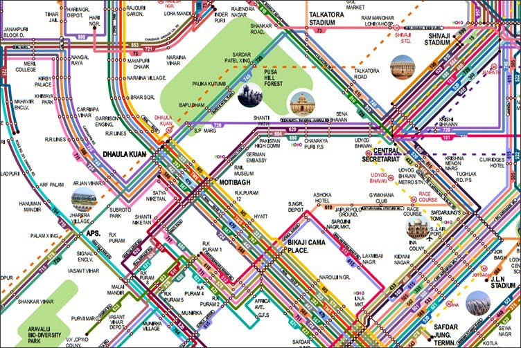 Delhi Bus Route Map The Definitive Delhi Bus Route Guide to Help You Travel | LBB Delhi Bus Route Map