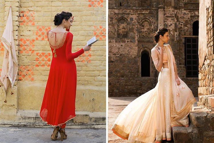 Clothing,Dress,White,Gown,Orange,Red,Formal wear,Shoulder,Peach,Pink