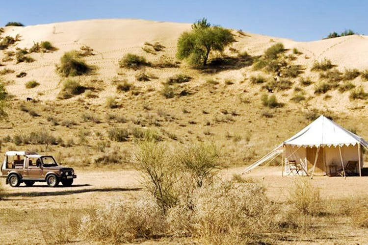 Stay Away From Civilisation In The Desert At Manvar Resorts