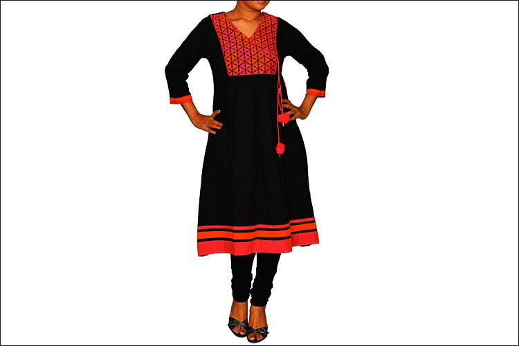 Clothing,Orange,Embroidery,Day dress,Dress,Formal wear,Sleeve,Suit,Fashion design,Pattern