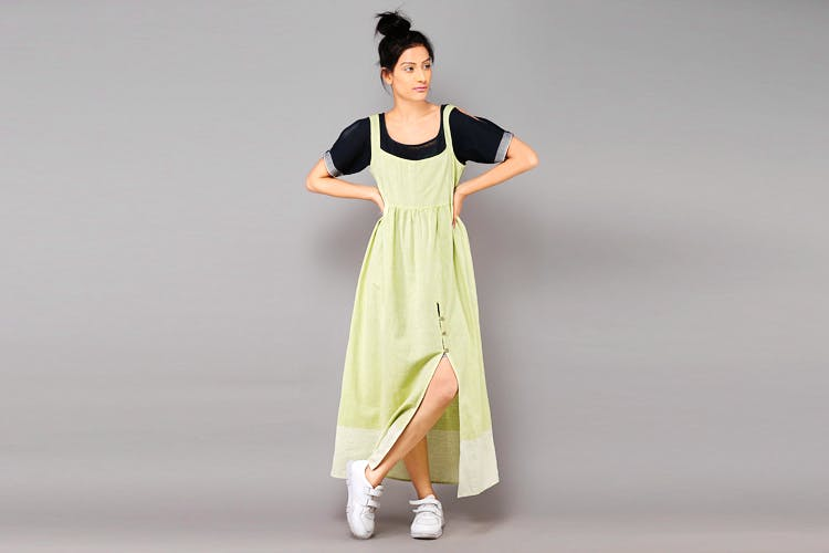 Clothing,Dress,Green,Formal wear,Fashion,Neck,Sleeve,Outerwear,Day dress,Fashion design