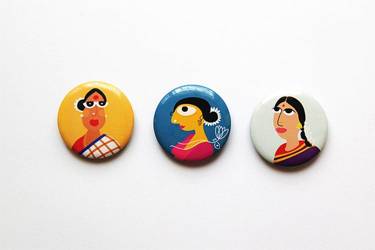 Pin-back button,Badge,Cartoon,Button,Fashion accessory,Illustration