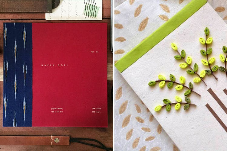 Green,Leaf,Pink,Notebook,Material property,Paper,Plant,Room,Paper product,Stationery