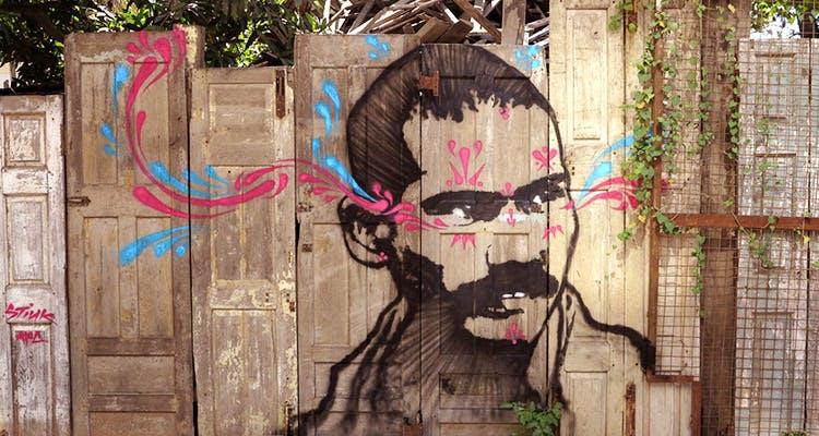 Street art,Art,Wall,Graffiti,Pink,Visual arts,Tree,Mural,Illustration,Graphic design