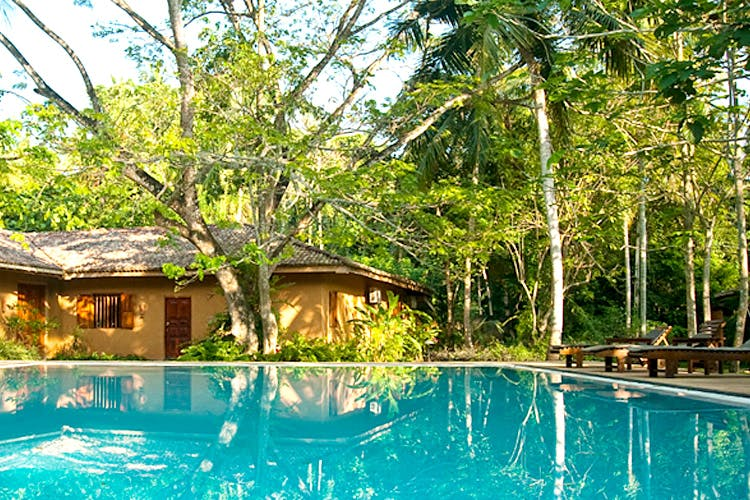 Swimming pool,Resort,Property,House,Leisure,Building,Real estate,Eco hotel,Tree,Home