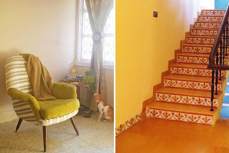 Furniture,Chair,Room,Property,Yellow,Floor,Home,Stairs,Interior design,Real estate