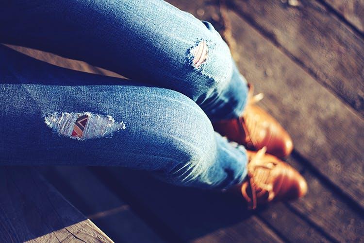 Jeans,Blue,Light,Denim,Leg,Arm,Sunlight,Hand,Human leg,Textile