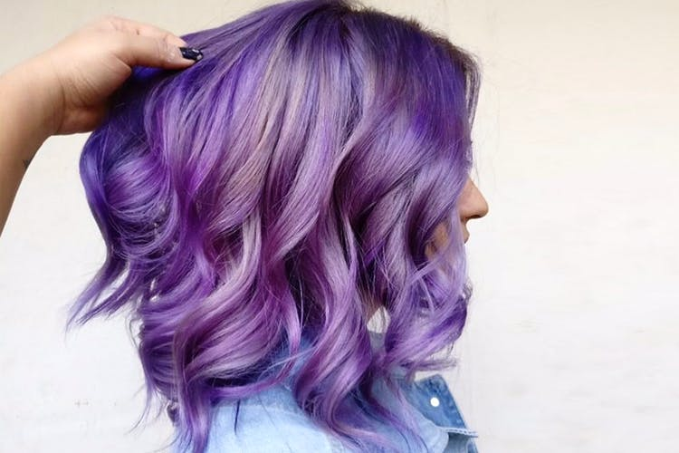 Hair,Purple,Hair coloring,Violet,Hairstyle,Blue,Pink,Lavender,Beauty,Black hair