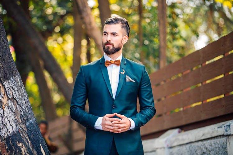 Suit,Photograph,Formal wear,Blue,Green,Yellow,Male,Gentleman,Turquoise,Tuxedo