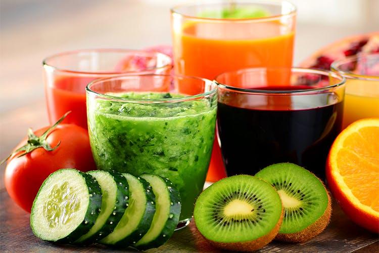 Food,Juice,Drink,Ingredient,Health shake,Vegetable juice,Aojiru,Non-alcoholic beverage,Natural foods,Smoothie