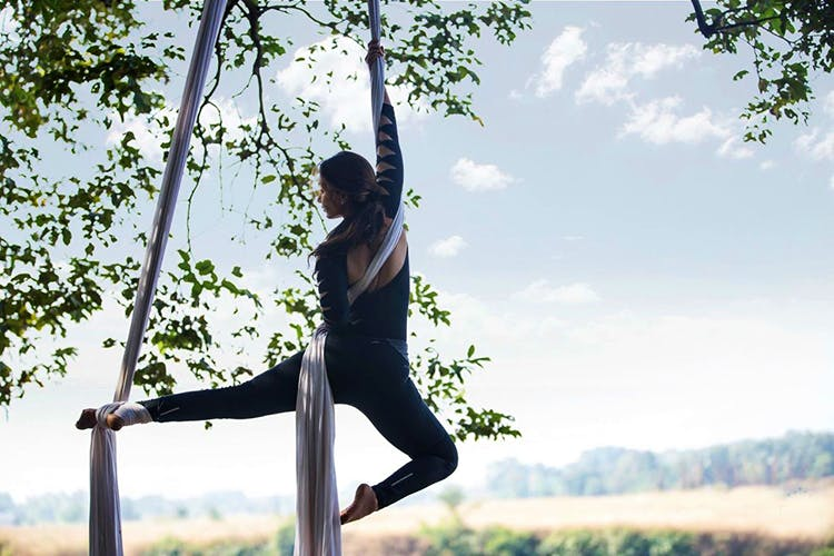 Want To Look Cool While Working Out? Head To These Aerial Yoga Studios