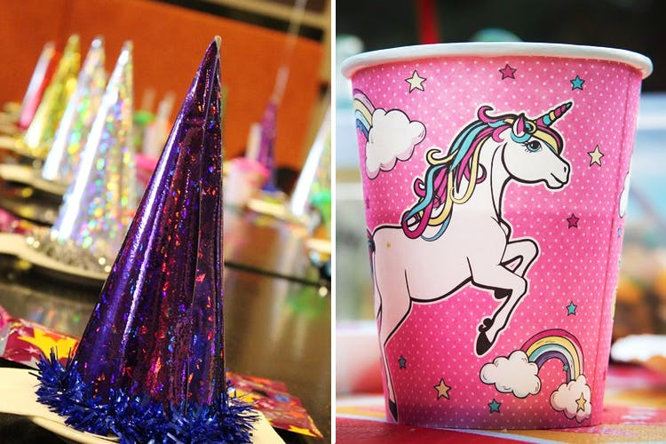 Pink,Purple,Unicorn,Lighting,Party supply,Candle,Fictional character,Party favor,Party hat,Magenta